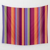 stripe Wall Tapestries featuring Stripe Marly by Shelly Bremmer