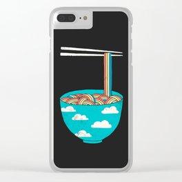 Rain-Bowl Clear iPhone Case