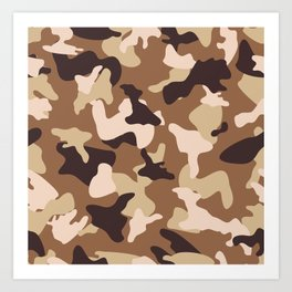 Desert camo sand camouflage army pattern Art Print