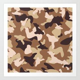 Desert camo sand camouflage army pattern Art Print