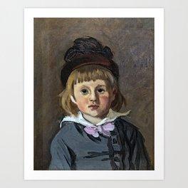 Portrait of his son Jean Monet in a pompom bonnet Art Print