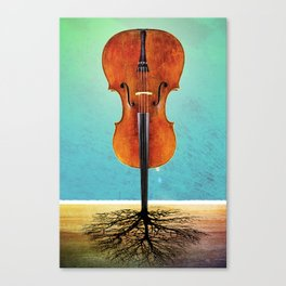 Rooted sound. Canvas Print