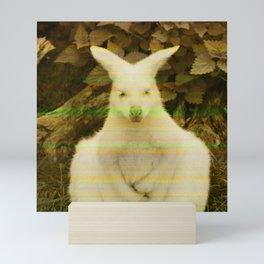 Retro Glitch Vibe Kangaroo Print Mini Art Print