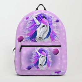 Unicorn Spirit Pink and Purple Mythical Creature Backpack