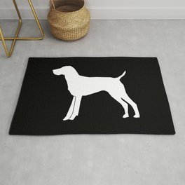German Shorthair Pointer dog breed pet portraits dog silhouette unique dog breeds Rug