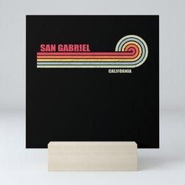 San Gabriel California City State Mini Art Print