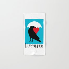 Vancouver's Canuck the Crow Hand & Bath Towel