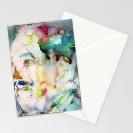 LANGSTON HUGHES watercolor portrait.2 Stationery Cards