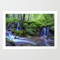 Hanging Lake Runoff Art Print