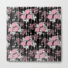 Abstract floral pattern. Metal Print