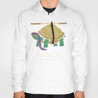 ninja turtle Hoodies featuring ninja - purple by Louis Roskosch