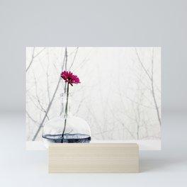 red flower Mini Art Print