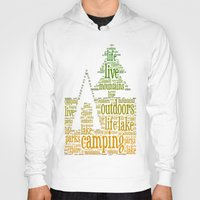 camping Hoodies featuring Camping by windkist