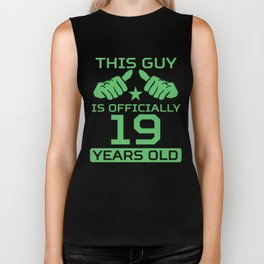 This Guy Is Officially 19 Years Old 19th Birthday Biker Tank
