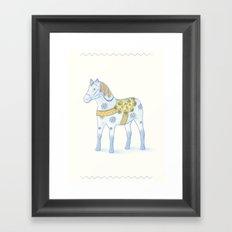 Memories of a wooden horse Framed Art Print