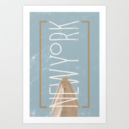 New York Green Art Print