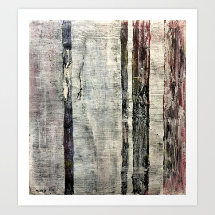 Rainforest Year 2050 (oil on canvas) Art Print