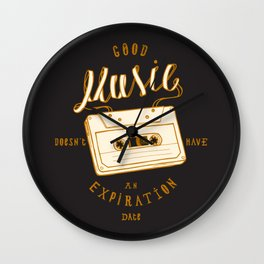 Good Music Cassette Wall Clock