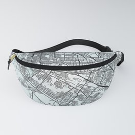 Baton Rouge, LA, USA, White, City, Map Fanny Pack