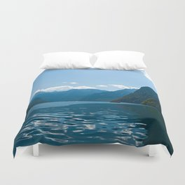 Koenigssee Lake with Alpes Duvet Cover