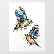 Wax Eyes Art Print