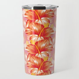 Blooming Happiness Tropical Exotic Hibiscus Flowers Travel Mug