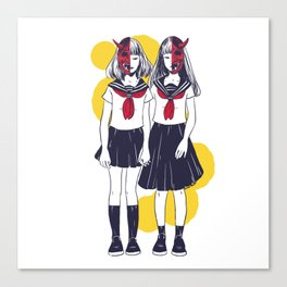 Oni Girls Canvas Print