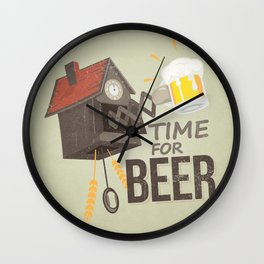 TIME FOR BEER Wall Clock