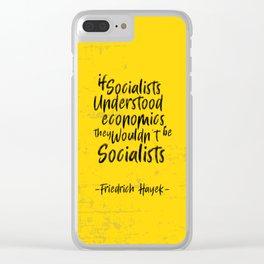 Friedrich Hayek Illustration Clear iPhone Case
