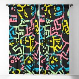 Happy Doodle Blackout Curtain