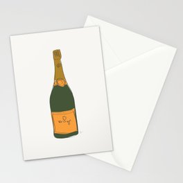 Champagne Bottle Pattern Stationery Cards