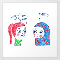 Where are you from? Art Print
