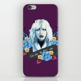 Courtney Love is the girl with the cake iPhone Skin