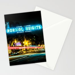 Normal Heights (San Diego) Sign - SD Signs Series #2 Stationery Cards