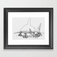 Pilot Fish Framed Art Print