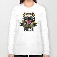hufflepuff Long Sleeve T-shirts featuring Hufflepuff Pride by Geekleetist