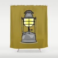 lantern Shower Curtains featuring Lantern by mailboxdisco
