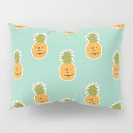 Pineapple love pattern - turquoise blue Pillow Sham