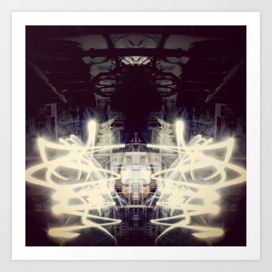 Lights & Mirrors Art Print