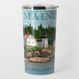 Bass Harbor Lighthouse Maine Travel Mug