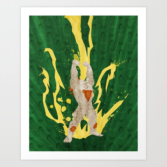 Call Me, Jimmy (Homage to Blanka from Street Fighter) Art Print