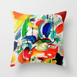 Kandinsky - Sea Battle Throw Pillow
