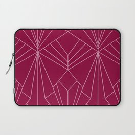 Art Deco in Raspberry Pink - Large Scale Laptop Sleeve