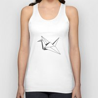 origami Tank Tops featuring origami by elyinspira