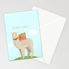 Alpaca Lunch Stationery Cards