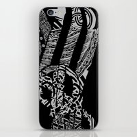 vikings iPhone & iPod Skins featuring Black Vikings by Fiorella Modolo