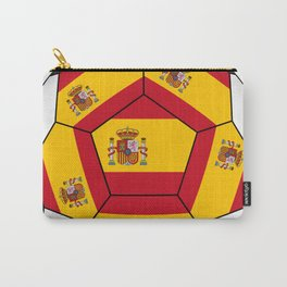 Soccer ball with Spanish flag Carry-All Pouch