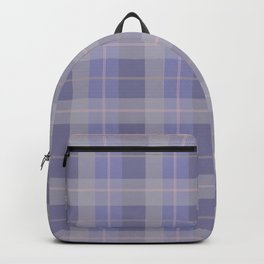 AFE Purple Plaid Pattern Backpack