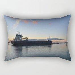 Ship Beaumare At Dusk Rectangular Pillow