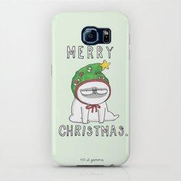 Grumpy Christmas puggy iPhone Case